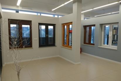 Okna PCV w salonie Solo