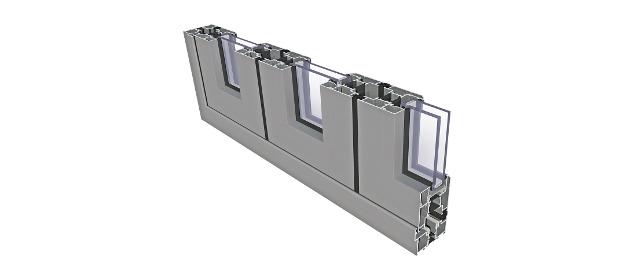 Aluminium-Falttüren