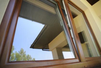 Zamontowane okna pcv z zewnątrz